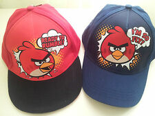 Angry Birds  Baseball Cap Hat Red & Black , Blue Size 8-12 years
