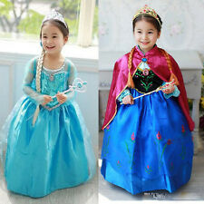 2014 Frozen Movie anna elsa dress halloween christmas costumes for baby children