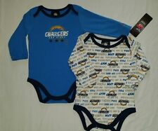 San Diego Chargers Baby Infant One Piece L/S Creeper 2 Pack NWT