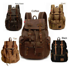 Retro Vintage Travel Canvas Backpack Sport Rucksack Satchel School Hiking Bag FE