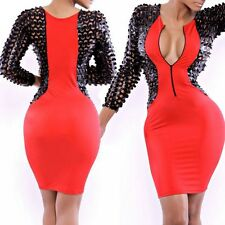Women Bodycon Bandage Sexy V Neck Pencil Dress Party Evening Club Wear Dress