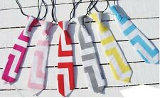 Baby Toddler Boys Gray Blue Red Yellow Cheveron Neck Ties