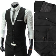 Designed Men's Slim Fit Business Vest Casual Boy's Tops Blouse Waistcoat S-L