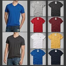 Nwt Abercrombie & Fitch Mens V-Neck Tee T-Shirt Muscle Hollister Sz S,M,L,XL,XXL