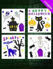 Halloween Decoration Gel Clings Window Cling Stickers Four Designs NEW