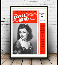 Dance Band Journal 1947 : Magazine cover poster reproduction