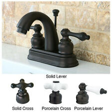 "KB 4"" center set bathroom faucet with Drain, Oil rubbed bronze KB5615AL NEW!"