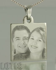 Personalised, PHOTO ENGRAVED Pendant - your image and text permanently engraved