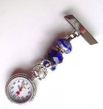 Nurses Fob Watch,Millefiori beads,also for Care workers,Beauticians & Vets £7.99