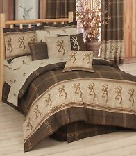 Browning® Original Brown Buckmark Bedding Comforter Set~Twin Full King Cal King