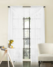 "2 Piece Sheer Window Curtain Drape Panel Treatments 55""W x 90""L"