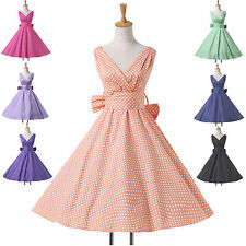 ❤US CHEAP❤ Vintage 50s Party Polka Dot Rockabilly Swing Pinup Retro Prom Dresses