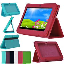 "7 inch Folio PU Leather Case Cover Stand For 7"" Q88 Android Tablet PC NEW DESHOP"