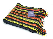 JOHNSTONS OF ELGIN 100% CASHMERE Multi Stripe Scarf - MADE IN SCOTLAND