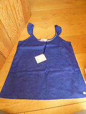BEDROOM ATHLETICS DUNE SLEEVELESS VINTAGE PRINT ULTRAMARINE BLUE TOP S M BNWT