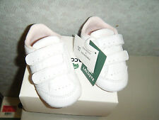 Lacoste Baby Beau Kids Shoes in White/Powder Pink