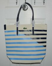 Lacoste Fantasie Medium Striped Vertical Tote Shopper Bag  2 Choices