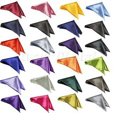 1 X Men's Satin Square Pocket Handkerchief Hanky Solid Color Hot Selling