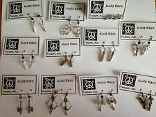 Silver & Bronzetone Weapon Earrings Free Shipping-11 Various Styles Guns Bullets