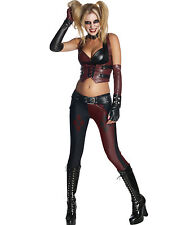 Sexy Gothic Gotham Harley Quinn Jokers Girl Womens Halloween Costume XS-L