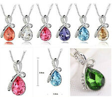 NEW 2014 Eternal Love Teardrop  Crystal Pendant Necklace Multicolor selection !!