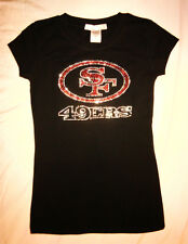 49ers Women's / Woman's Fitted Tee / Shirt / Top / Bling / Rhinestone Design