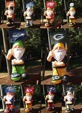 NFL NEW SPRINGY FLAG GARDEN GNOME 11 INCH SELECT YOUR TEAM