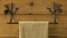 "Pine Lodge Towel Bars by Park Designs, 16"" or 24"", Choose 1 or Set, Pinecones"