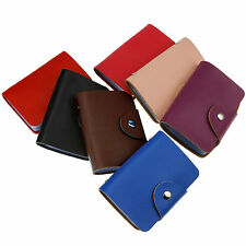 New Genuine Leather ID Credit Business Card Holder Wallet Case Pocket Mini Purse