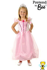 GIRLS KIDS CHILDRENS PINK PRINCESS CINDERELLA FANCY DRESS COSTUME AGE 3,4,5,6,7