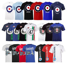 New Mens Lambretta Mod Scotter Crest Target T-Shirt Tee Clothing Casual Size