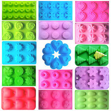 Chrismas 3D Silicone Cake Baking Molds Xmas Chocolate Jelly Cupcake Mould Tool