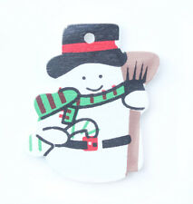 WOODEN SNOWMAN CHRISTMAS CARD MAKING SCRAPBOOK EMBELLISHMENTS 25*33mm