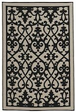 Fab Habitat - Indoor/Outdoor Rug - Venice Cream & Black