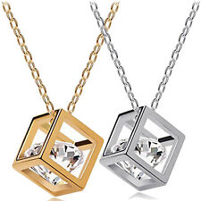 Fashion Eight hearts and eight arrows zircon square Necklace wholesale for women