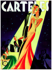 7722.Carteles.Well dressed woman and man walking at gala..POSTER.art wall decor