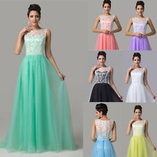 Womens Elegant Lace Formal Dress Homecoming Prom Evening Gown Party Long Dress