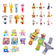 Musical Education Toy Cartoon Wrist Rattle Bell Baby Kid Infant Handbell New