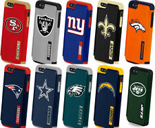 iPhone 5 5S Licience NFL Football Sport Hard Soft Rubber Hybrid Dual Case Cover