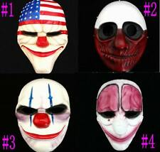 Payday2 The Heist Dallas Wolf Hoxton Chains mask joker clown mask Halloween Prop