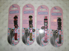 Sparkly Glitter Snap Free Safety Cat Collar adjustable Pink Gold Red or Black