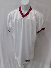 College Authentic Blank Football Jersey White with Burgundy Trim