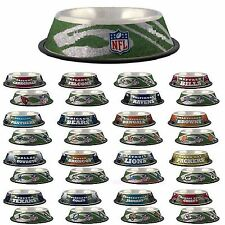 NFL Fan Gear Bowl Bowls Dish for Pets Dog Dogs Puppy Puppies STAINLESS ALL TEAMS