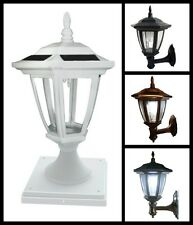 2-Pack Solar Hexagon Lights With  Wall Mount or  Fence Post Cap Base - New Model