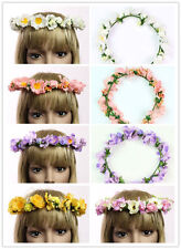 5 Colors Ribbon Flower Girl Headpiece Floral Garland Floral Head Wreath Bridal