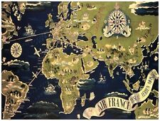 7906.Map of the world.flight paths.africa.europe.s america.POSTER.art wall decor