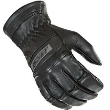 Joe Rocket Mens Classic Black Leather Motorcycle Riding Gloves