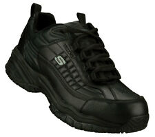 Skechers - Men's Work: Soft Stride - Dexter Steel Toe Shoes BLACK 76760BBK
