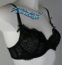 Ladies Daniel Axel Soft Cup underwired Bra Black Full Lace Cup 32-38 B,C,D,DD