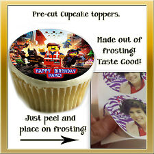 The Lego Movie Cupcakes tops Edible image sugar paper decal transfer toppers